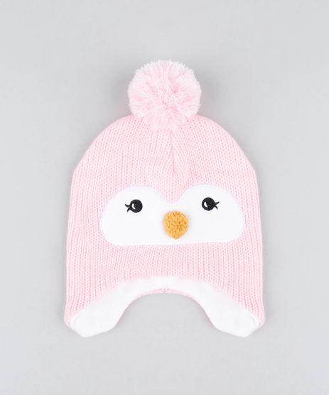 Gorro-Infantil-Pinguim-com-Pompom-Rosa-9360936-Rosa_1