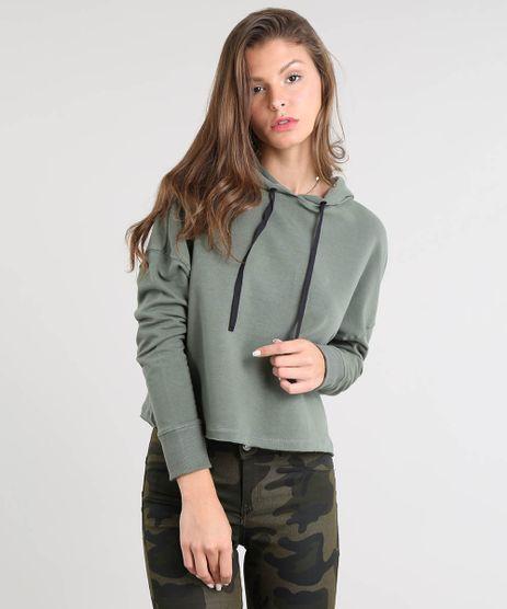 Blusao-Feminino-Cropped-em-Moletom-com-Capuz-e-Cadarco-Verde-Militar-9466833-Verde_Militar_1