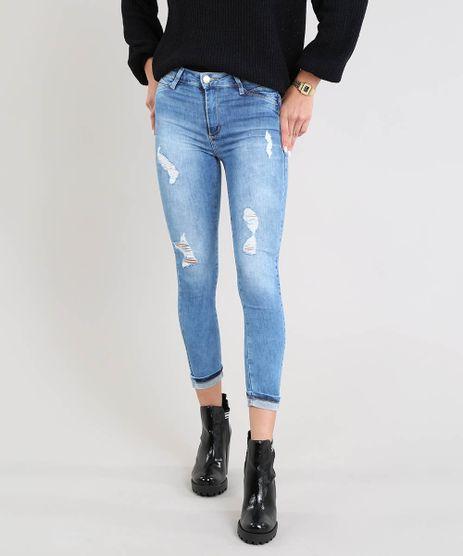 Calca-Jeans-Feminina-Sawary-Cropped-com-Rasgos-Azul-Medio-9329156-Azul_Medio_1