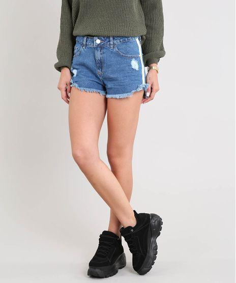 Short-Jeans-Feminino-Boy-com-Faixa-Lateral-Azul-Medio-9517376-Azul_Medio_1