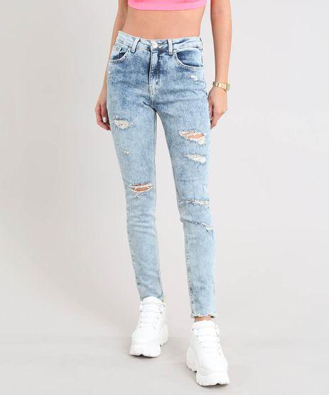 Calca-Jeans-Feminina-Skinny-com-Rasgos-Azul-Claro-9532110-Azul_Claro_1