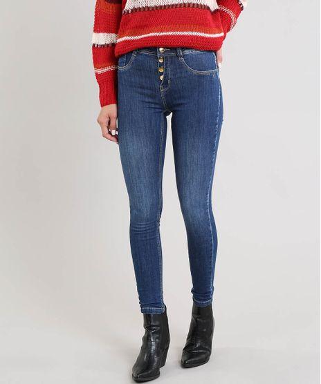 9e698f900 Calca-Jeans-Feminina-Sawary-Cigarrete-Cintura-Media-Azul-