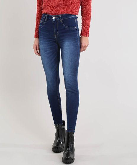 Calca-Jeans-Feminina-Sawary-Skinny-Cintura-Alta-Azul-Escuro-9509354-Azul_Escuro_1
