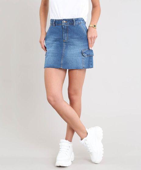 Saia-Jeans-Feminina-Curta-Cargo-Azul-Medio-9532113-Azul_Medio_1
