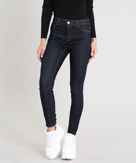 Calca-Jeans-Feminina-Cigarrete-Cintura-Media-Azul-Escuro-9530362-Azul_Escuro_1