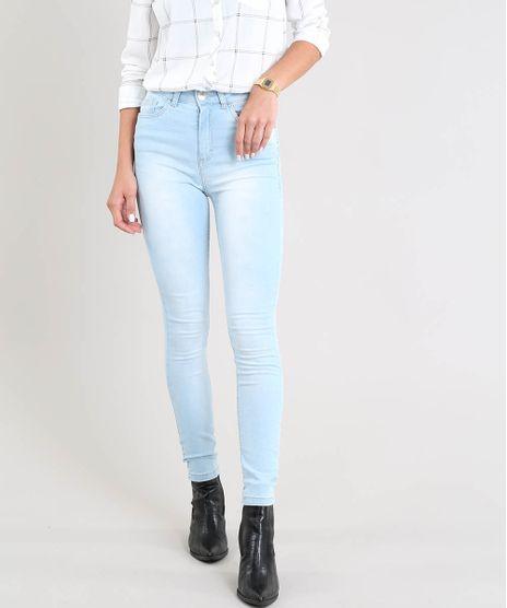 Calca-Jeans-Feminina-Super-Skinny-Cintura-Alta-Azul-Claro-9453710-Azul_Claro_1