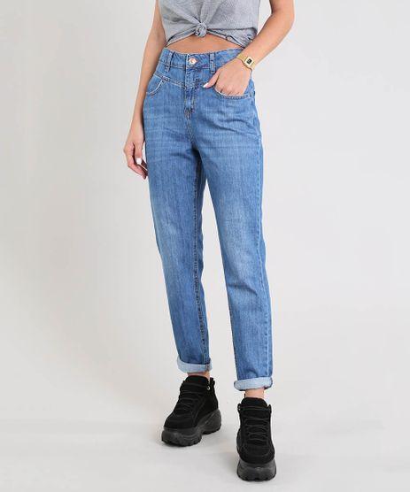 Calca-Jeans-Feminina-Mom-com-Recorte-Azul-Medio-9534858-Azul_Medio_1