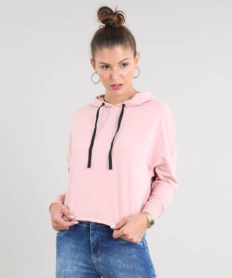 Blusao-Feminino-Cropped-em-Moletom-com-Capuz-e-Cadarco-Rose-9466833-Rose_1