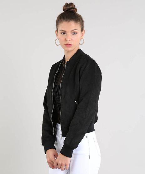 Jaqueta-Bomber-Feminina-Acolchoada-em-Suede-Preta-9363843-Preto_1