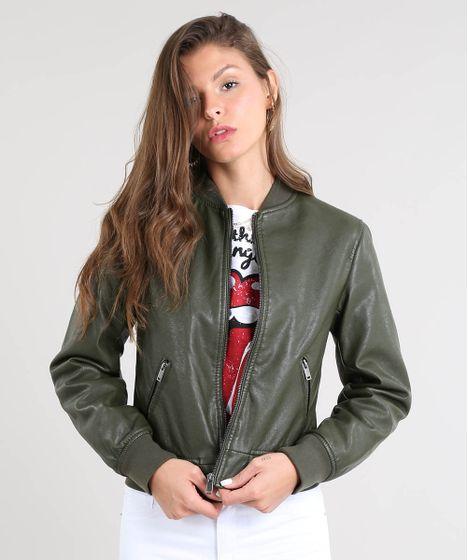 238f7a2ce Jaqueta-Bomber-Feminina-Acolchoada-Verde-Militar-9363663-Verde_Militar_1 ...