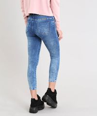 05cc71a8c Calça Jeans Feminina Sawary Skinny Clochard Azul Médio - ceacollections