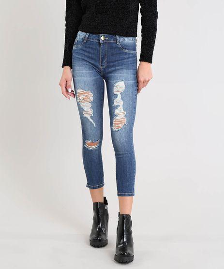 Calca-Jeans-Feminina-Sawary-Cropped-Destroyed-Azul-Escuro-9509358-Azul_Escuro_1