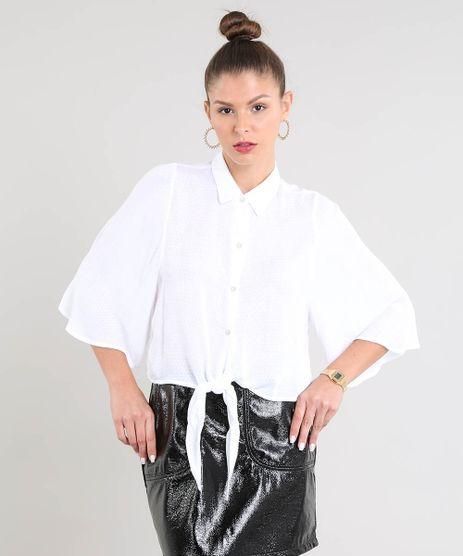 Camisa-Feminina-Ampla-com-No-Manga-Curta-Off-White-9372060-Off_White_1