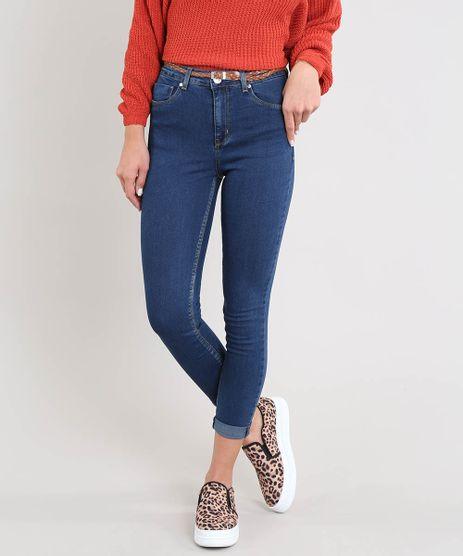 Calca-Jeans-Feminina-Cropped-com-Cinto-Azul-Escuro-9463467-Azul_Escuro_1