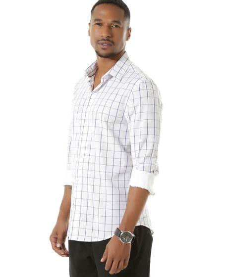 b6ec24f049 cea · Moda Masculina · Camisas. Camisa-Social-Slim-Xadrez-Branca-8453790-Branco 1  ...