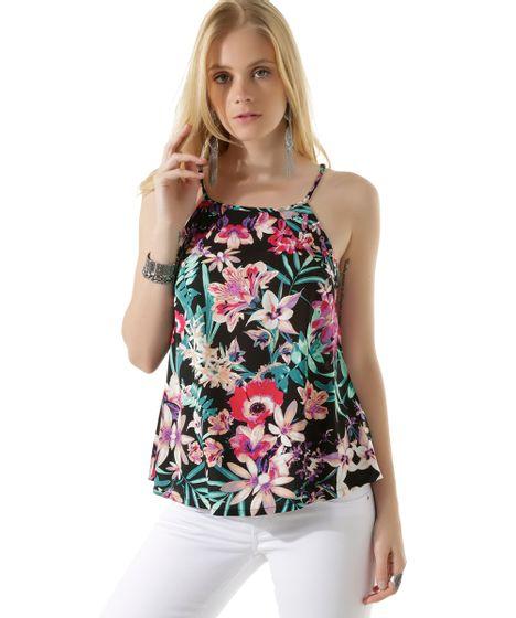 d62ccbefeb Regata-Estampada-Floral-Preta-8414976-Preto 1 ...
