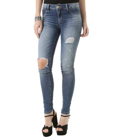 aa70f8372a cea · Moda Feminina · Calças. Calca-Jeans-Super-Skinny-Sawary-Azul-Medio-8478829-  ...