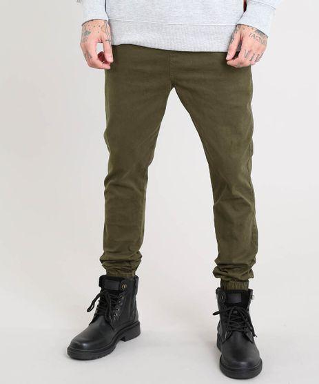Calca-de-Sarja-Masculina-Jogger-Skinny-Verde-Militar-9301992-Verde_Militar_1