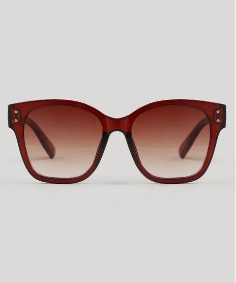 409e623036e9c Oculos-de-Sol-Feminino-Quadrado-Oneself-Marrom-9542997-