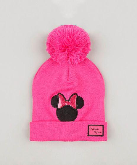 Gorro-Infantil-Minnie-em-Trico-com-Pompom-Pink-9360937-Pink_1