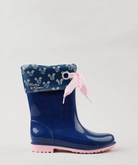 Bota-Galocha-Infantil-Grendene-Mickey-e-Minnie-com-Laco-Azul-Marinho-9513003-Azul_Marinho_1