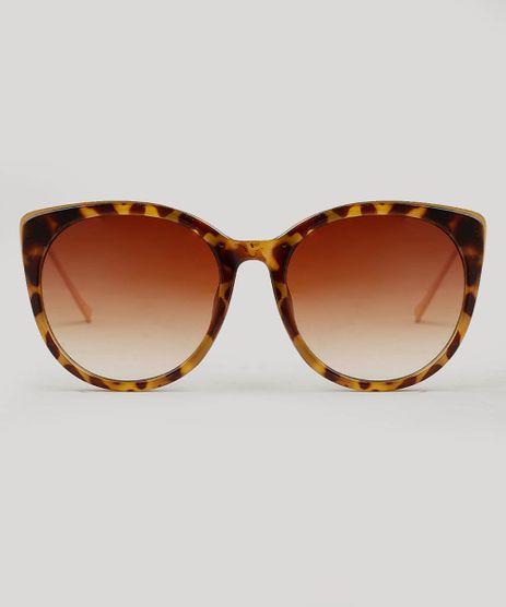 eda06a01d351b Oculos-de-Sol-Feminino-Redondo-Oneself-Tartaruga-9542984-