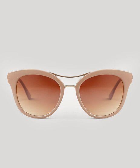 Oculos-de-Sol-Feminino-Redondo-Oneself-Bege-9542978-Bege_1