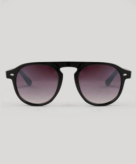 420cf5ef43577 Oculos-de-Sol-Unissex-Redondo-Oneself-Preto-9541011-