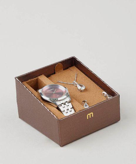Kit-de-Relogio-Analogio-Mondaine-Feminino---Brinco---Colar---53684L0MVNE2KA-Prateado-9527808-Prateado_1