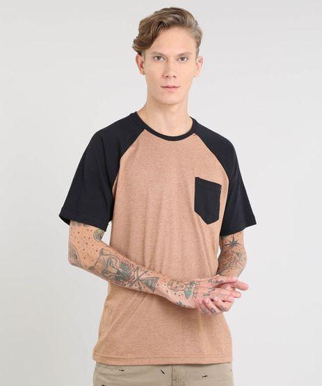 Camiseta-Masculina-Raglan-com-Bolso-Manga-Curta-Gola-Careca-Caramelo-9435001-Caramelo_1