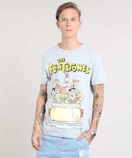 Camiseta-Masculina-Os-Flintstones-Manga-Curta-Gola-Careca-Cinza-Mescla-9419291-Cinza_Mescla_1