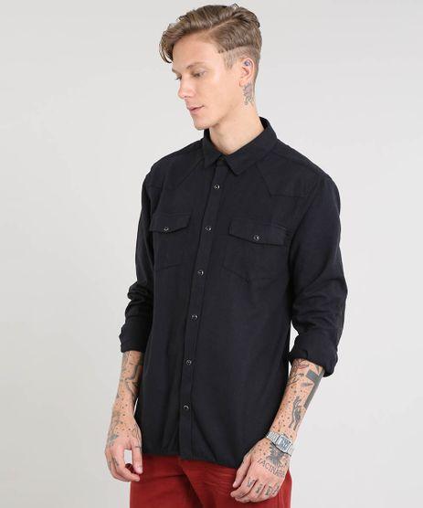 Camisa-Masculina-com-Recorte-em-Suede-Manga-Longa-Preta-9381719-Preto_1