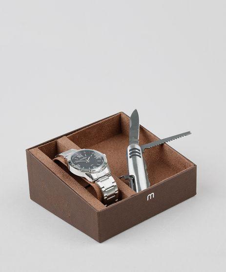Kit-de-Relogio-Analogico-Mondaine-Masculino---Canivete---99327G0MGNE2K1-Prateado-9527842-Prateado_1