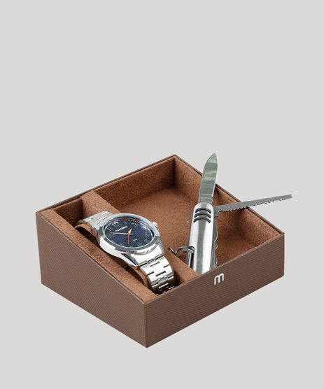 Kit-de-Relogio-Analogico-Mondaine-Masculino---Canivete---83456G0MVNE2KA-Prateado-9527836-Prateado_1