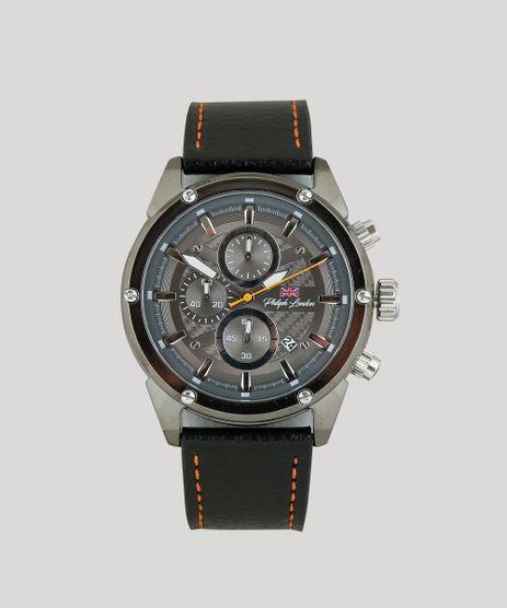 c54113e2a703 Relogio-Cronografo-Philiph-London-Masculino---PL80079612M-Grafite-