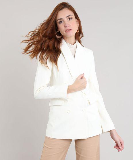 15f35d4604 Blazer-Feminino-Alongado-Transpassado-Off-White-9426341-Off White 1