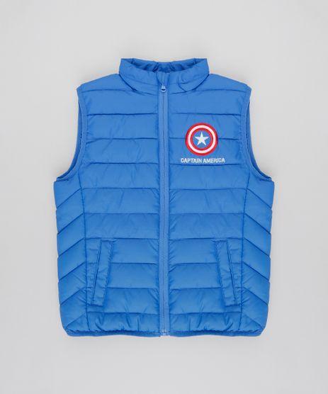 Colete-Infantil-Puffer-Capitao-America-com-Bolsos-Azul-9348800-Azul_1