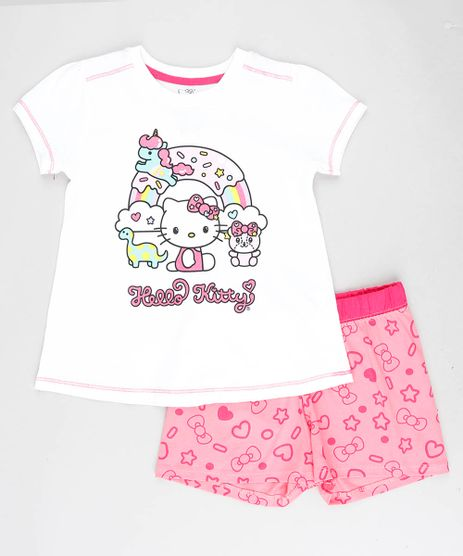 Pijama-Infantil-Hello-Kitty-Manga-Curta-Off-White-9418639-Off_White_1