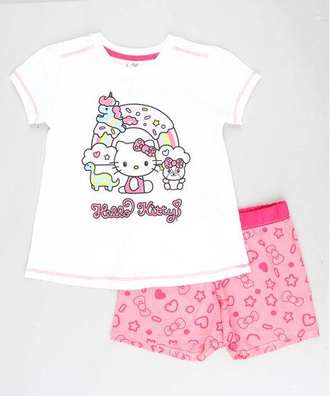 Pijama-Infantil-Hello-Kitty-Manga-Curta-Off-White-9418639-Off_White_1