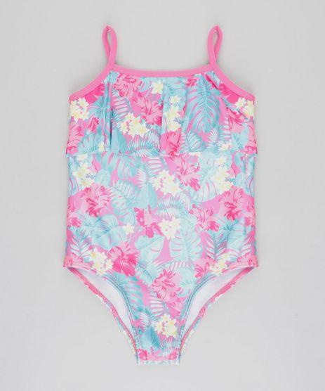 Maio-Infantil-Estampado-Floral-com-Babado-Protecao-UV50--Pink-9421851-Pink_1