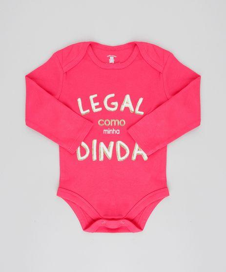 Body-Infantil--Legal-como-Minha-Dinda--Manga-Longa-Decote-Redondo-Rosa-Escuro-9208116-Rosa_Escuro_1