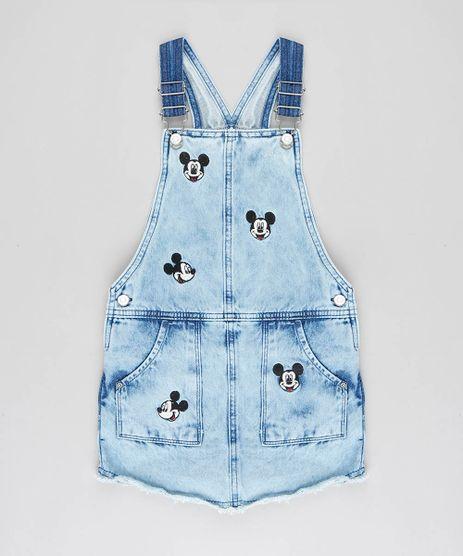 Jardineira-Short-Saia-Jeans-Infantil-Mickey-com-Bordado-Azul-Claro-9449490-Azul_Claro_1