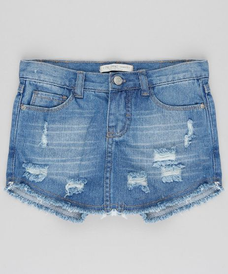 Short-Saia-Jeans-Infantil-Destroyed-Azul-Medio-9407419-Azul_Medio_1