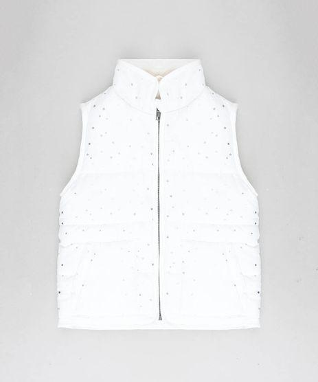 Colete-Infantil-Puffer-Estampado-de-Estrelas-com-Pelo-Off-White-9363997-Off_White_1
