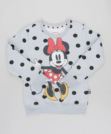Blusao-Infantil-Minnie-Estampado-de-Poa-em-Moletom-Cinza-Mescla-9409745-Cinza_Mescla_1