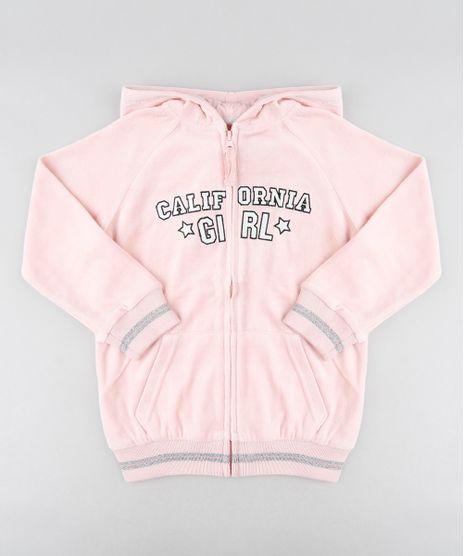 Blusao-Infantil--California-Girl--em-Plush-com-Capuz-Rosa-Claro-9362171-Rosa_Claro_1