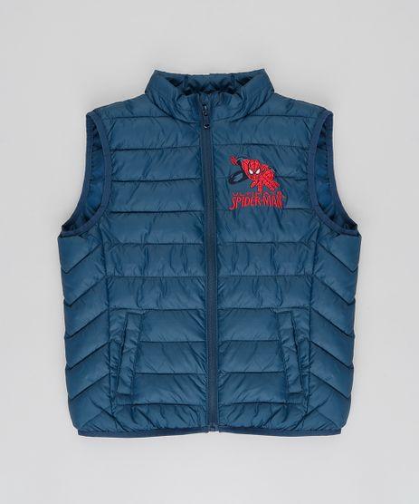 Colete-Infantil-Puffer-Homem-Aranha-com-Bolsos-Azul-Escuro-9348537-Azul_Escuro_1