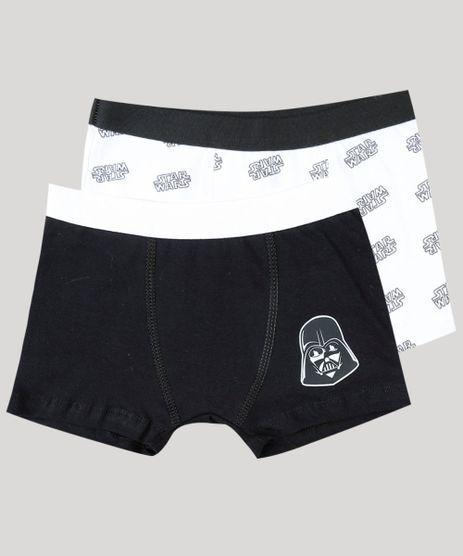 7d33ad51df Kit-de-2-Cuecas-Infantis-Boxer-Star-Wars-