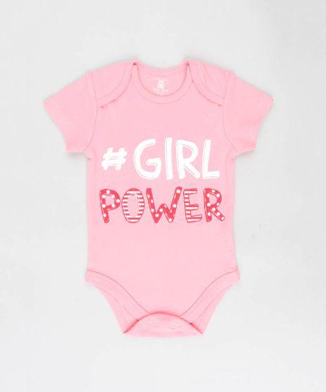 Body-Infantil---Girl-Power--Manga-Curta-Decote-Redondo-Rosa-9208113-Rosa_1