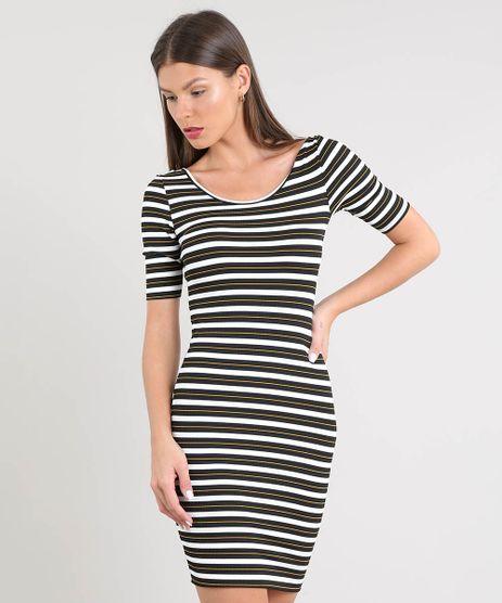Vestido-Feminino-Listrado-Curto-Canelado-Branco-9297318-Branco_1